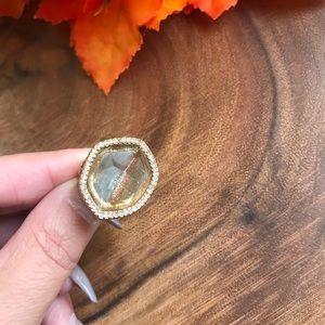 Chloe + Isabel Jewelry - Chloe & Isabel Gold Tone Jeweled Honey Comb Sides